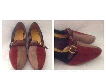 Anniversary Sale Ladies Vintage Suede Multi Color Shoes