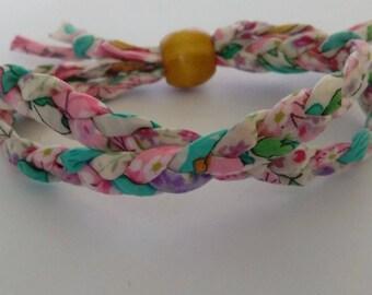 Colourful Liberty Print fabric bracelet