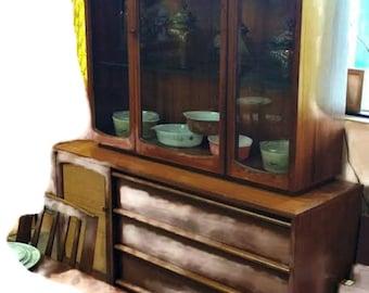LANE Furniture Rhythm China Hutch Cabinet Side Mid Century Modern MCM