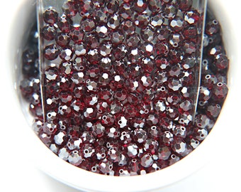 5mm Swarovski Elements Article 5000 Siam SATIN Faceted Round Beads 6/12/36/172/44/288/720 Pieces
