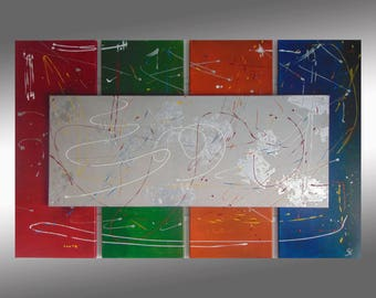 SC-art - abstract & modern / acrylic painting / 80x125cm / 5 pieces