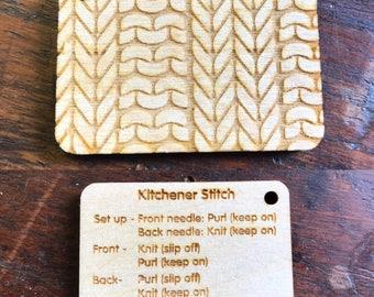 Kitchener stitch reminder keyring