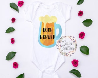 home brewed baby bodysuit//beer baby humor//baby shower gift//funny baby bodysuit//custom baby clothes