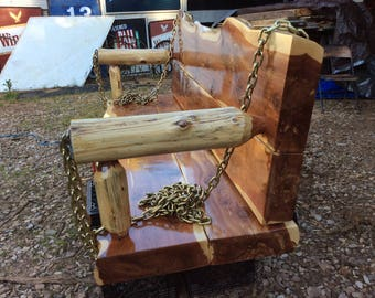 Red Arkansas Cedar Porch Swing