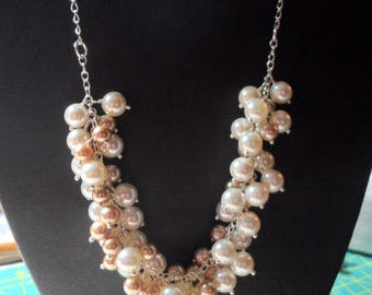 Shell Pearl Bubble Necklace