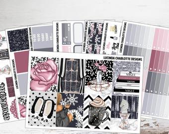 Winter Nights | Weekly Planner Sticker Kit