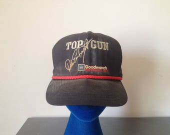 Vintage 90's Dale Earnhardt Top Gun Goodwrench Snap Back Dad Hat NASCAR Car Racing Promotional