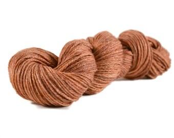 Merino Bamboo Yarn, Worsted weight yarn, merino yarn, bamboo yarn, worsted weight merino bamboo yarn, orange, bamboo merino yarn - Pumpkin