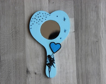 Blue Fairy hand painted mirror