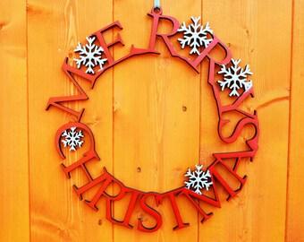 Luxury Wooden Merry Christmas Door/Wall Decoration