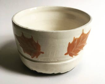 Autumn Themed Ice Cream Bowl Pottery Pot