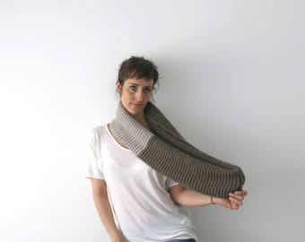 Infinity scarf, warm cowl, circular scarf, super chunky cowl, handknitted men scarf, women shrug, unisex scarf, coffee scarf, winter scarf