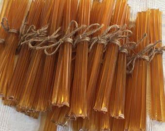 Bundle of 5 raw clover honey sticks