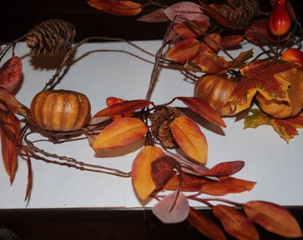 The colors of fall wreath