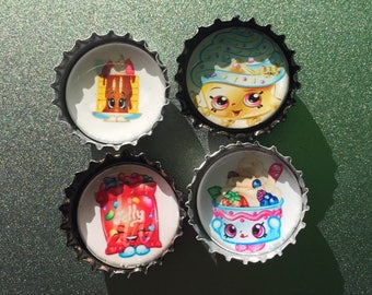 4 Shopkins Magnets