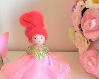 Doll fairy wooden peg doll