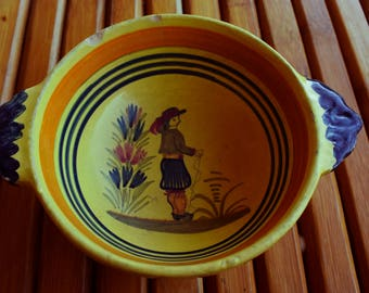 Henriot Faience Quimper Bowl - Made in France- traditional-