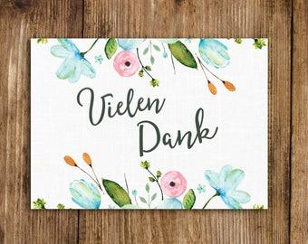 "Postcard ""Thank you"", White wedding Thank you"