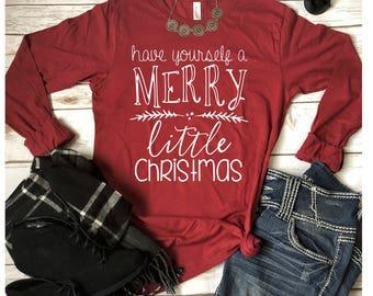 Christmas shirt/  Christmas women shirt/ merry christmas ya filthy animal/  shirts for women/ christmas apparel/  holiday apparel