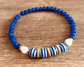 Nauti: Sailor Blue & White w/gold accents