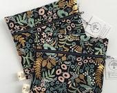 Small bag, catch all, makeup bag, small travel bag, small zippered pouch,navy bag, gold, metallic, buffalo plaid, yellow, small bag
