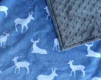 Minky Baby Blanket, Deer Minky Blanket, Animal Blanket, Minky Blanket, Soft Blanket, Newborn Baby Blanket