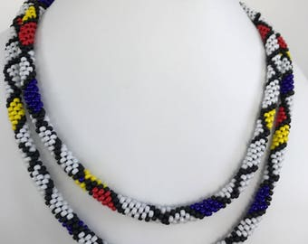 Kumihimo Beaded Necklace