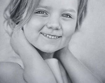 custom portrait from photo, custom portrait, personalized portrait, portrait from photo, pencil portrait, pencil drawing, custom art