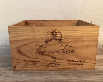 French Original Wine Crate Bottle Lauris Vacqueyras 22031818