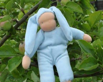 Waldorf baby doll, steiner doll, simple doll, eco friendly, natural fiber doll, Waldorf doll, cuddle doll
