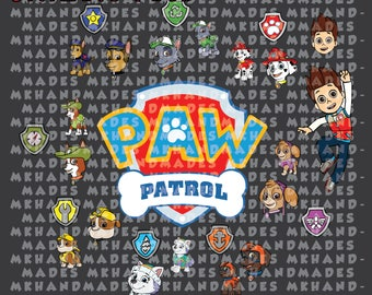 Easy cut and assemble multilayered Paw Patrol inspired theme SVG , DXF  - Paw Patrol SVG - Svg Files for Silhouette Cameo or Cricut