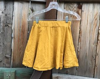 Yellow Skater Skirt