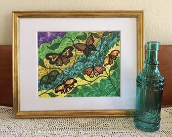 Butterflies Art Print, Abstract Painting, Butterfly Work of Art, Butterfly Wall Art, 8x10 Print, Room Decor