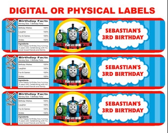 Personalized Thomas the train water Bottle Labels !
