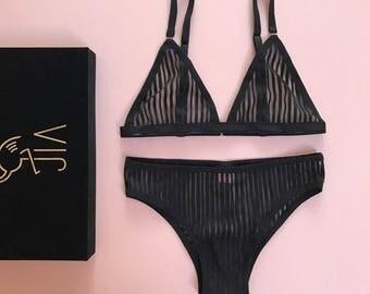 NEW lingerie set • BLACK LINE •