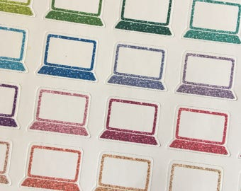 Glitter Laptop Planner Stickers