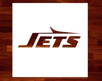 Jets Custom  Stencil