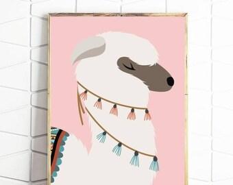 70% OFF SALE llama digital art, llama printable art, llama digital download, llama download art, llama art print, llama poster files, llama