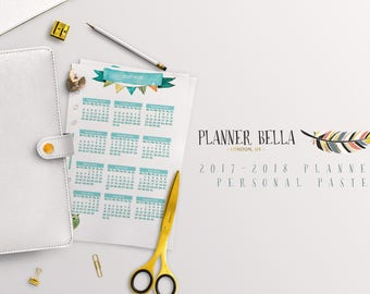 2017-2018 Personal Pastel Planner   Printable