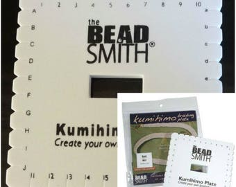 Beadsmith Kumihimo Braiding Plate & Instructions 6 Inch x10mm Square