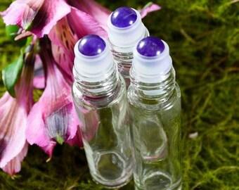 Amethyst Gemstone Roller Ball Perfume Bottles