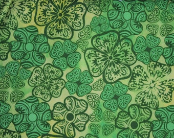 St Patricks Fabric-Clover Pattern Fabric from Susan Winget- 100% Cotton