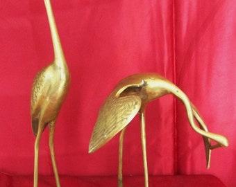 Solid Brass birds pair