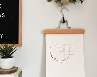 Done is Better Than Perfect   Wooden Wall Hanging   Jenna Kutcher Quote