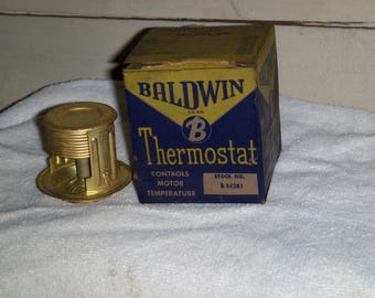 Vintage auto: Baldwin thermostat stock no B 34281. For many mid 1930-1950 vehicles.