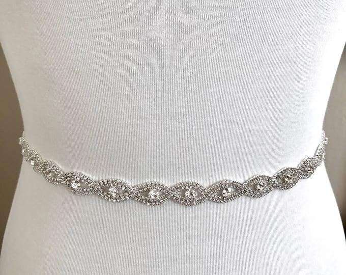 Crystal Bridal Belt, Bridal Sash, Wedding Belt, Wedding Sash Rhinestone and Pearl Sash