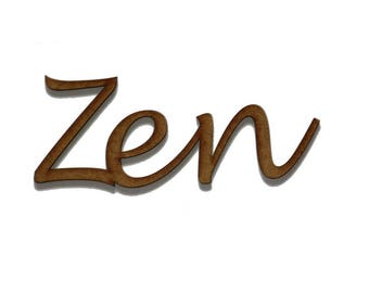 "Word ""Zen"" in medium 3 mm"