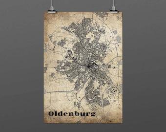 Oldenburg DIN A4 / DIN A3 - print - turquoise