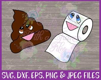 Toilet Paper SVG. BFF SVG, Best Friends Svg, Poo Svg, Poo Emoji Svg, Besties Svg, Kawaii Svg, Friends Svg, Dxf Eps Png Jpg Digital Download