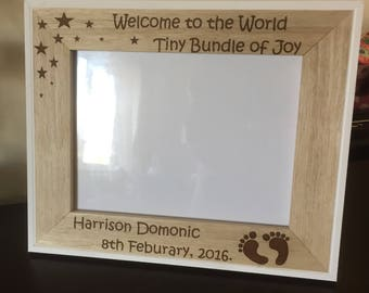 Personaised picture frame